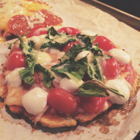 perfectly crusted cauliflower pizzas