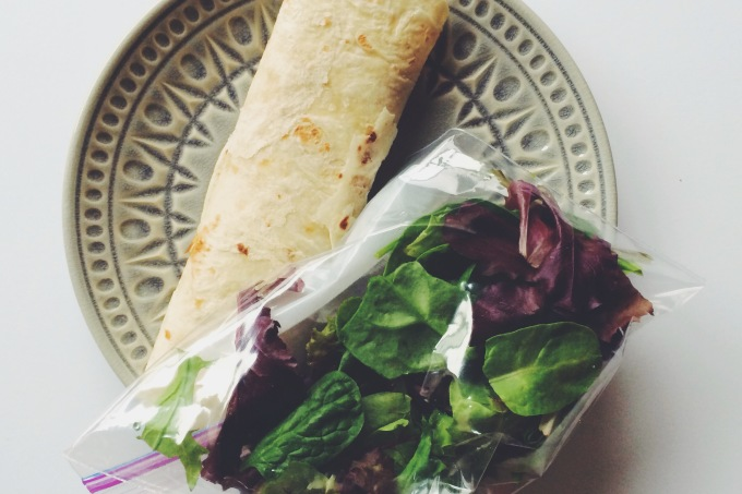 uber easy + protein-packed lunch wrap