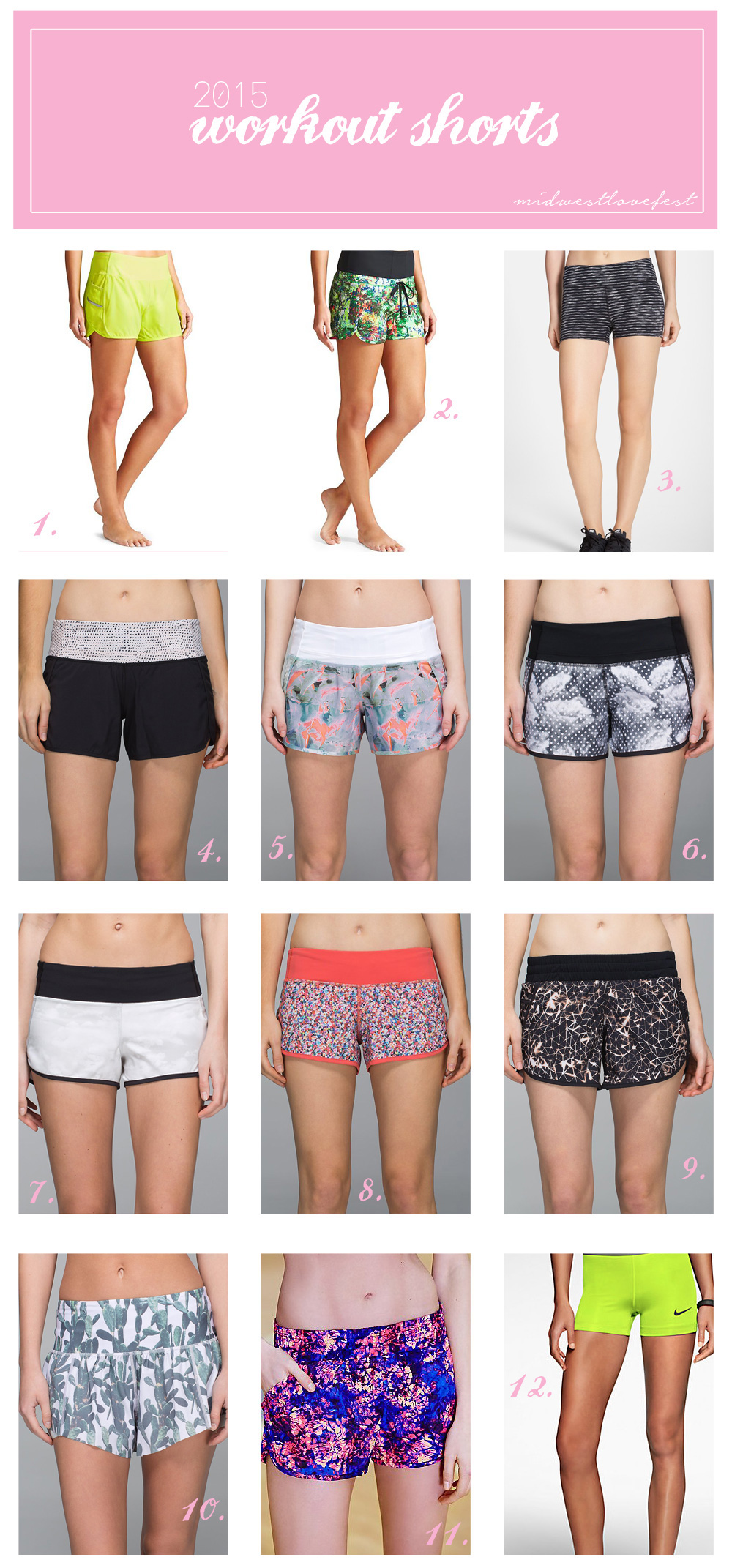 complete roundup of women's activewear for summer!